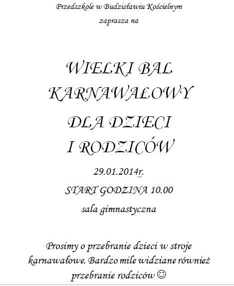 Zaproszenie Na Bal Do Druku