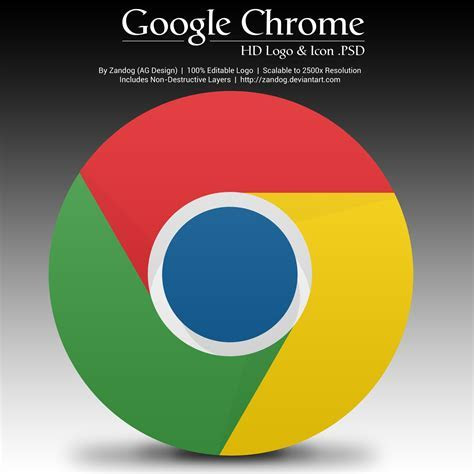 Google Chrome HD Logo and Icon .PSD by zandog on DeviantArt