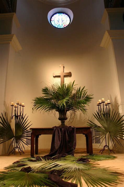 Beautiful palm branches display at the Montecito Covenant