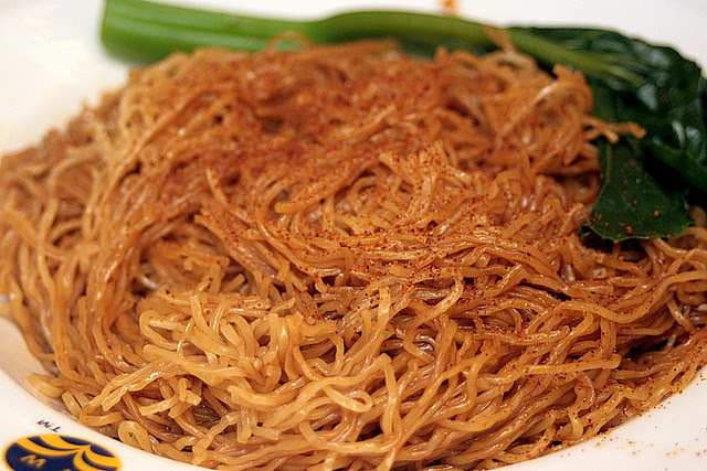 Dry-tossed noodles with shrimp roe