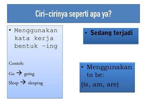 belajar present continuous tense bahasa inggris