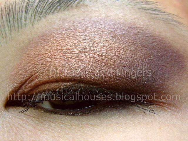peach purple eye look 3