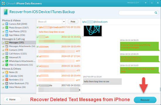 How to Recover Deleted Text Messages on iPhone Free ...
