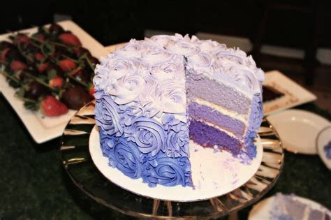 Purple Ombre Rose Cake   Forks In The Road