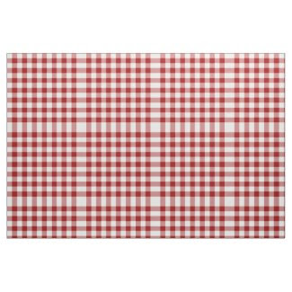 Homey Red and White Gingham Pattern Fabric