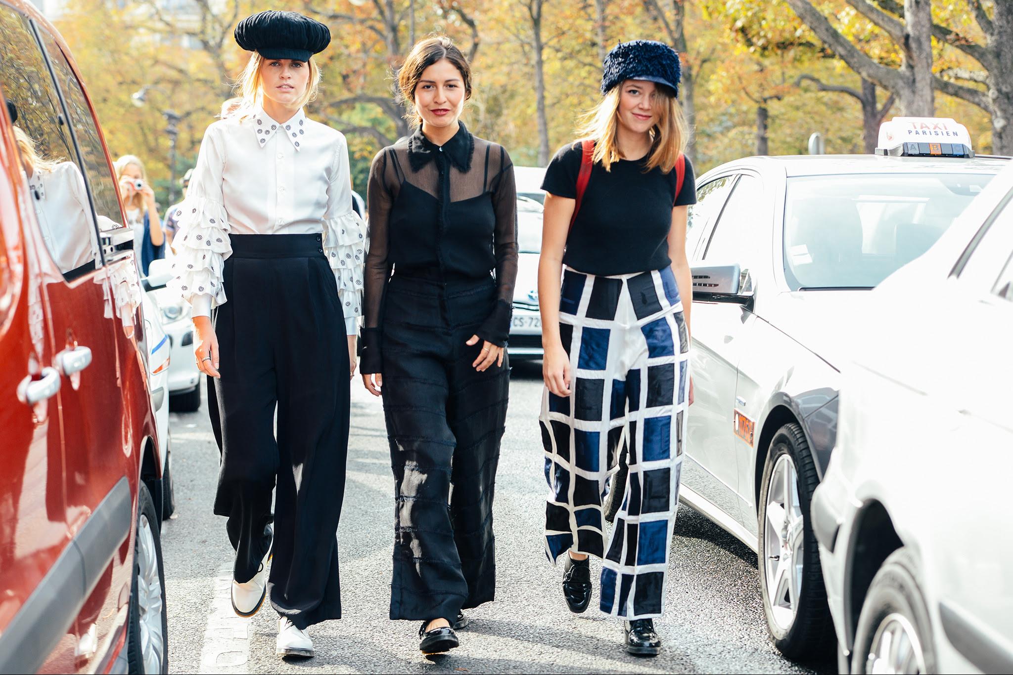 Resultado de imagen de pantalon palazzo street style