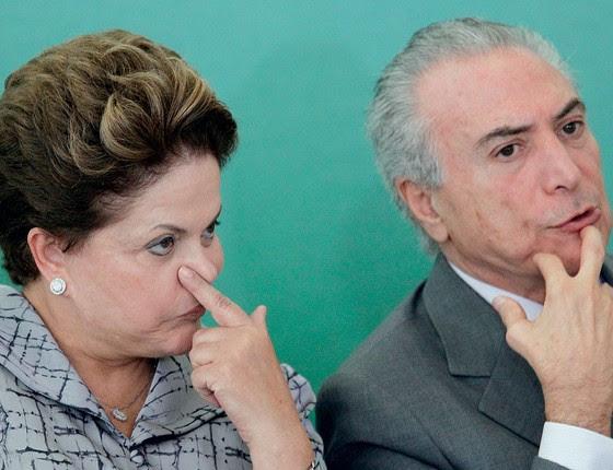 Dilma Roussef e o presidente Michel Temer (Foto:   Ueslei Marcelino / Reuters)