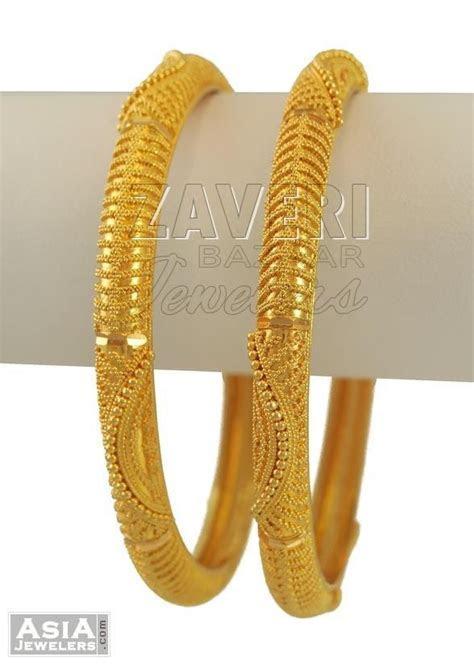 22k Gold Filigree Bangles (2pcs)   Jewells   Gold bangles