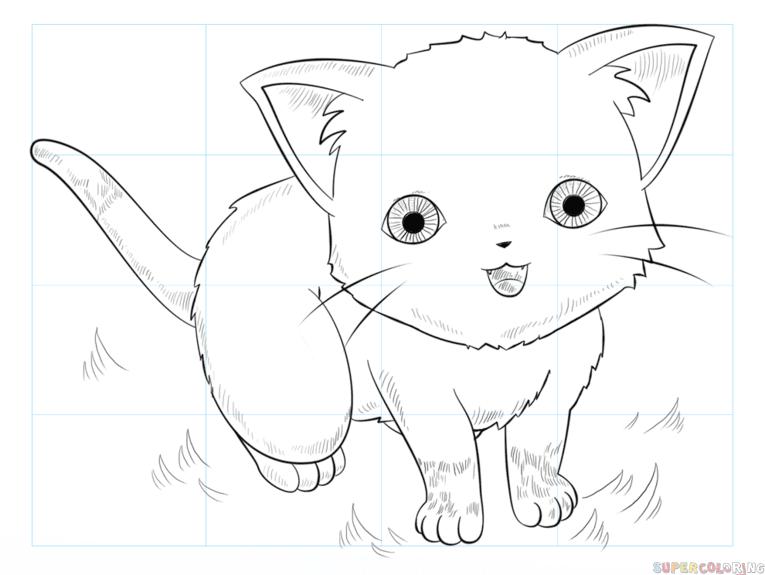 Anime Cute Cats Drawings Cuteanimals