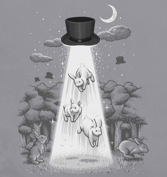 art, cylinder, fly, illustration, rabbit