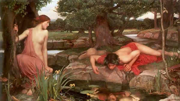 Echo and Narcissus - painting by Waterhouse, 1913
