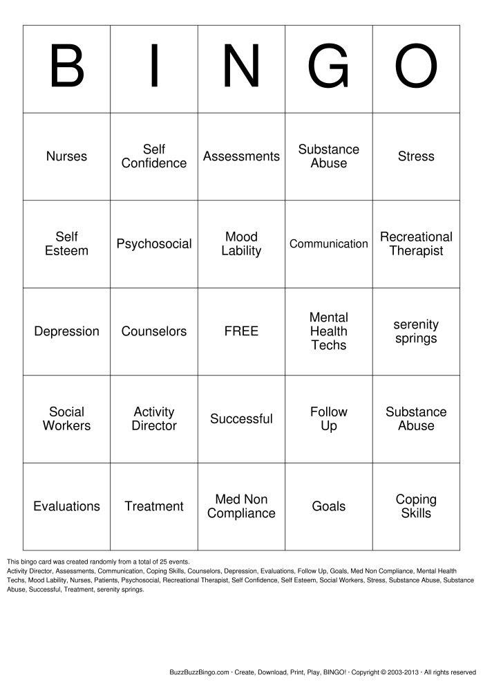 19 Best Images of Mental Health Worksheets PDF - Printable ...