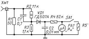 Эквивалент антенны с индикатором мощности