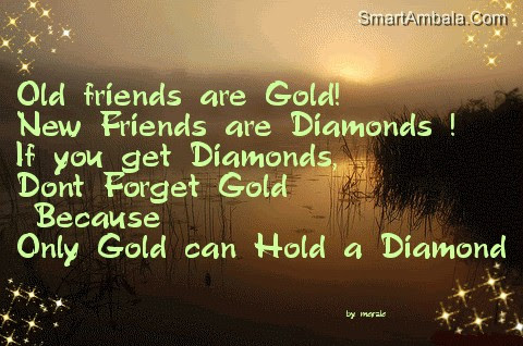 Old Friend Are Gold Friendship Quote Quotespicturescom