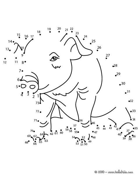 pig dot  dot game coloring pages hellokidscom
