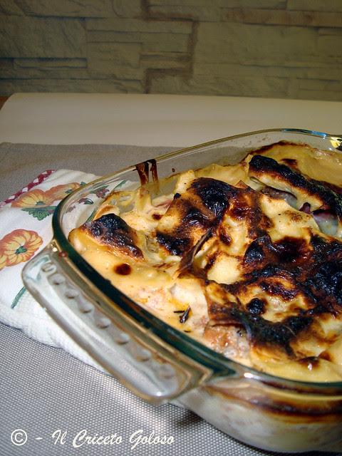 lasagne bianche con stracchino speck e carne