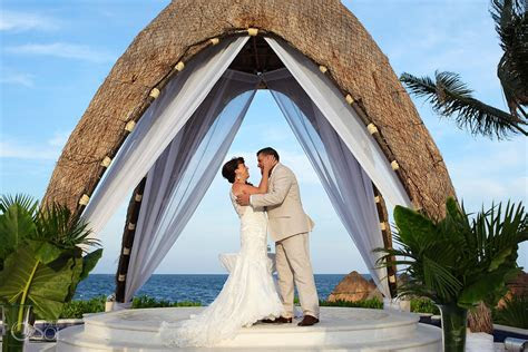 dreams rivera cancun wedding gazebo katie  billy