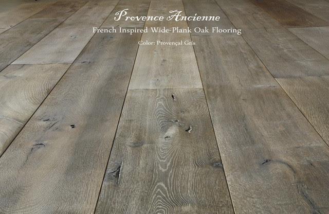 Provence Ancienne Wide Plank Oak Flooring - mediterranean - wood ...