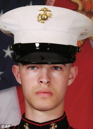 Tragic: US Marine Lance Cpl. Joshua Bernard was the 19th US soldier to die in Afghanistan in August