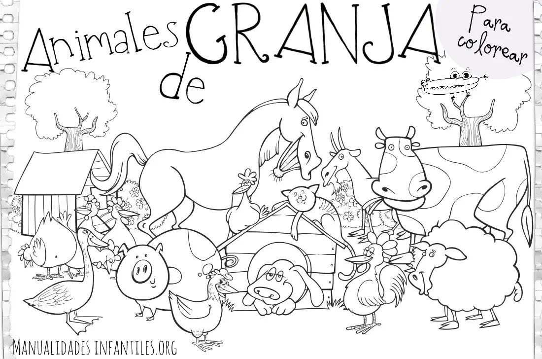 Dibujos De Animales De Granja Actividades Para Ninos Manualidades
