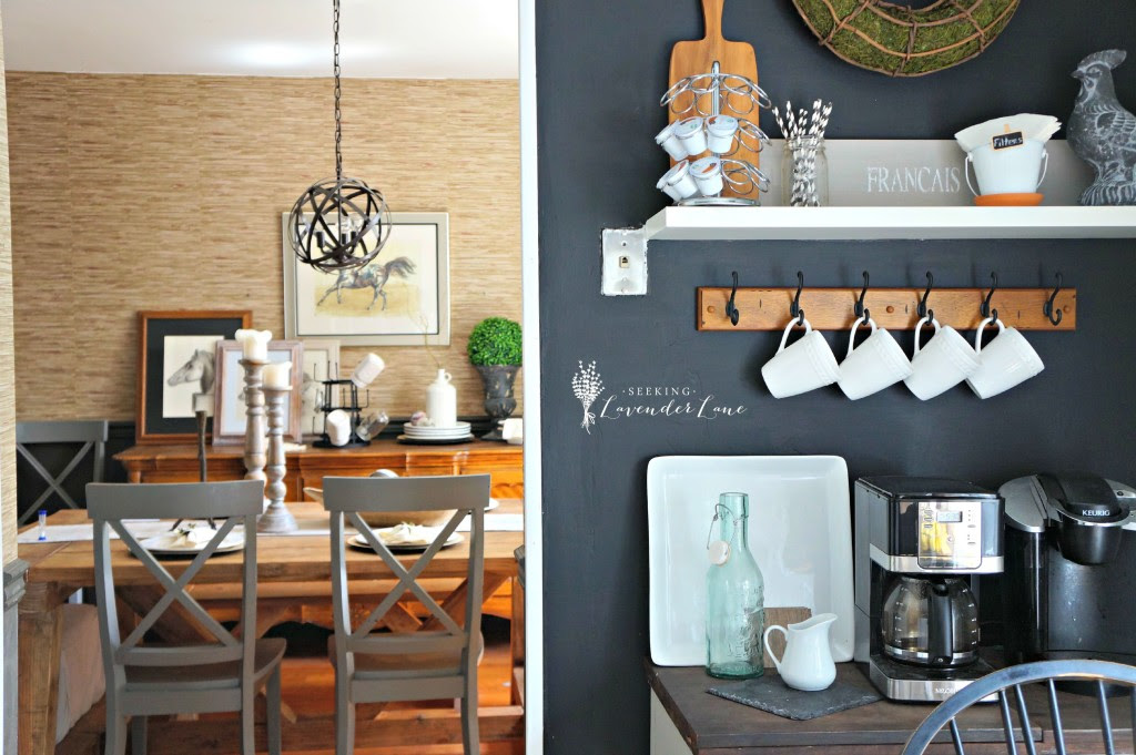 Chalkboard Wall kitchen and dining room