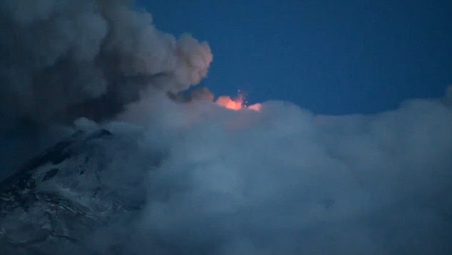 Sicilian giant: The volcano is Europe's largest and most active, dwarfing its closest rival Mt Vesuvius