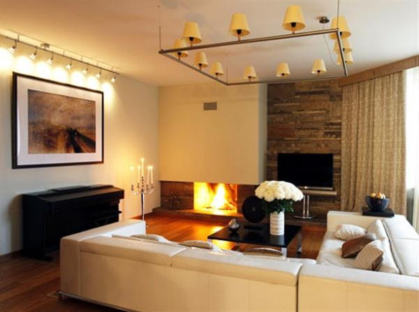 20 Pretty Cool Lighting Ideas for Contemporary Living Room ...
