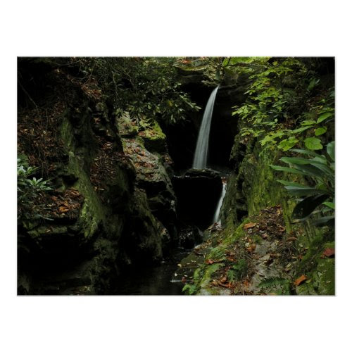 Sheltered Waterfall Photo Poster print