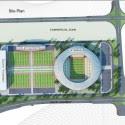 Campo de fútbol de Teherán (5) del plano del sitio