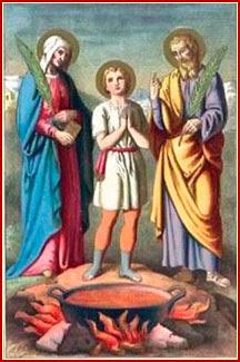 SANTOS VITO, MODESTO Y CRESCENCIA, Mártires