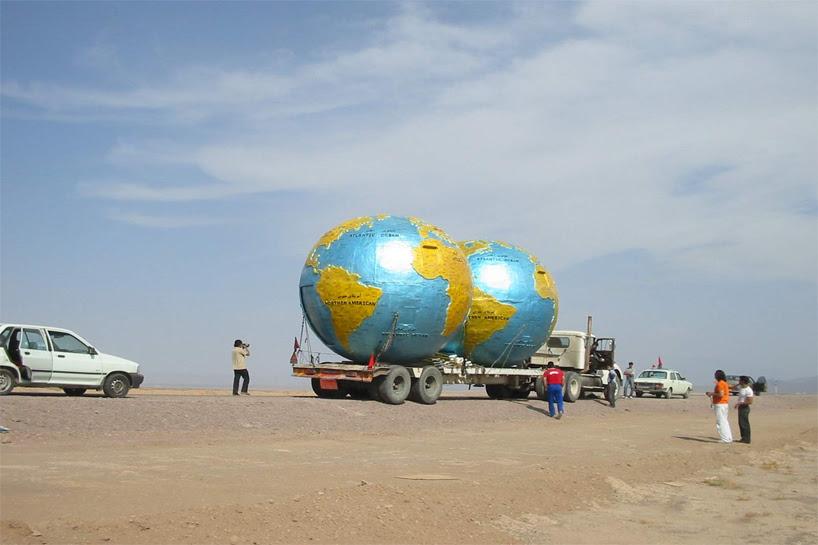 playpark reinterprets globe as tourist information center