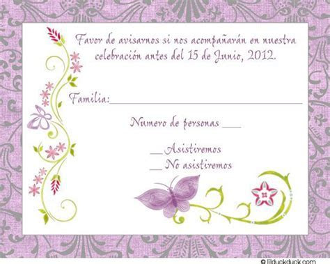 Purple Spanish Butterfly Response Card   Mami's 80 Birthdy