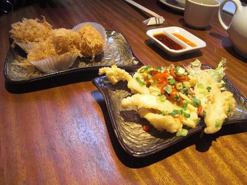 Wu Kok and Salt Pepper Squid @ Yum Cha