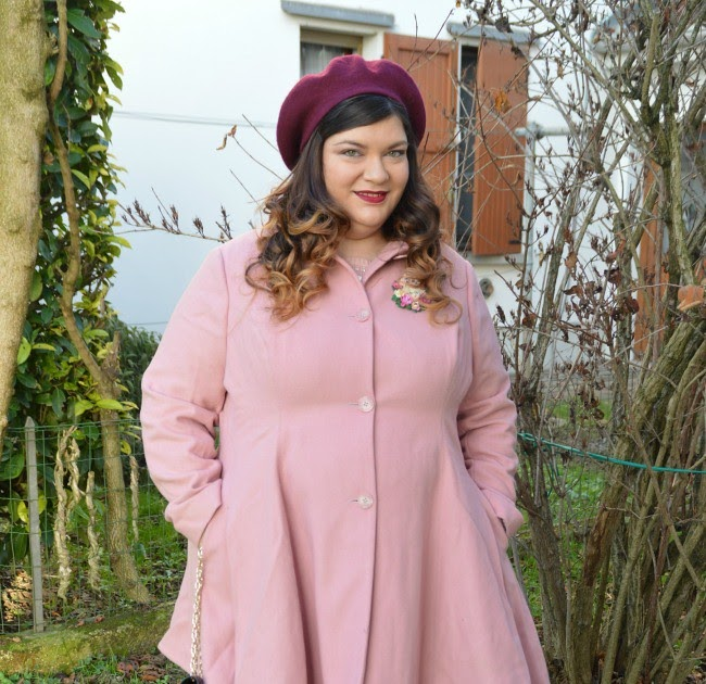 Outfit rosa e borgogna plus kawaii plus size fashion blog - La diva delle curve ...