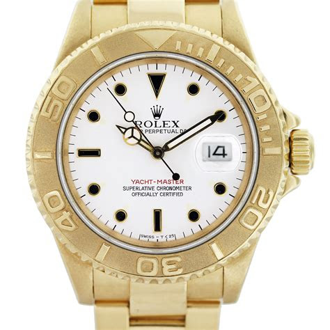 rolex yachtmaster   yellow gold mens