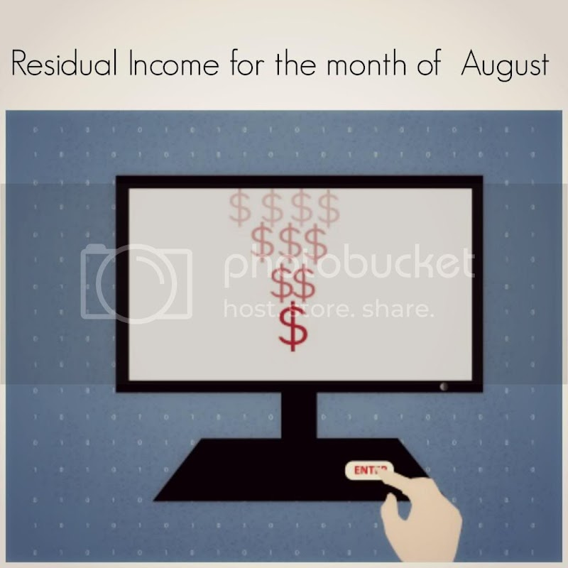 Residual Income for August 2013
