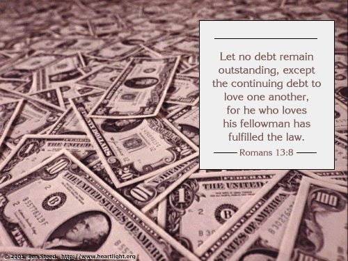 Inspirational illustration of Romans 13:8