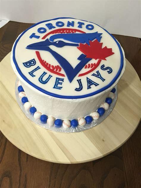Toronto blue jays cake   chocolate fudge with chocolate