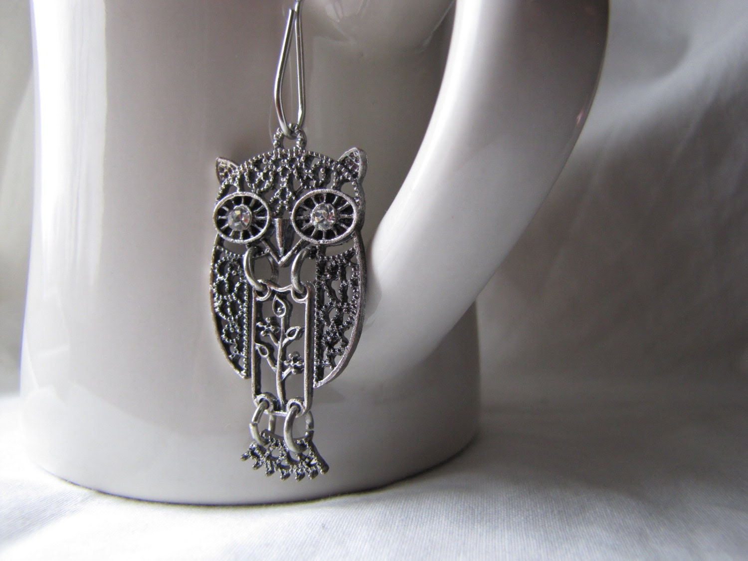 Mesh Tea Ball with Owl Charm | homeandcottage