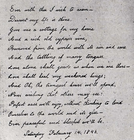 Read the valentine poem below written Virginia Eliza Clemm Poe for her