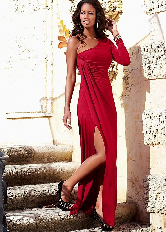 Venus One Shoulder Long Dress