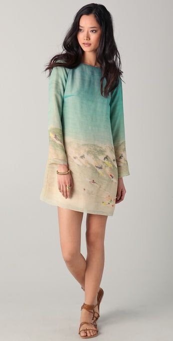 Harvey Faircloth Surf Print Dress