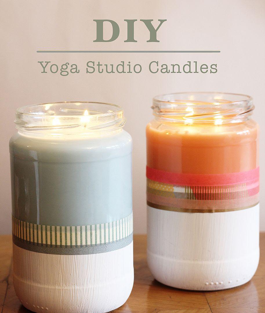 Yogi DIY: Yoga Studio Candles - Ché Dyer