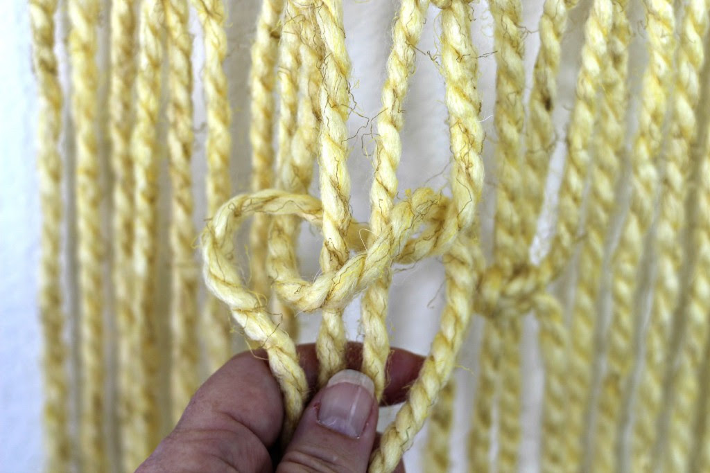 Macrame Wall Hanging first of square knot.1