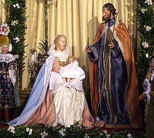 Mindelheim, Germany: Nativity scene at the Jes...