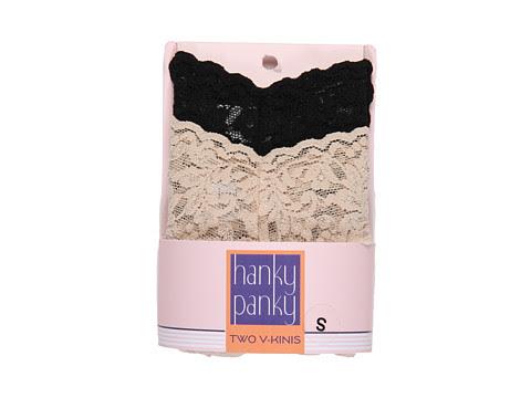 Cheap Hanky Panky Signature Lace V Kini 2 Pack Black Chai