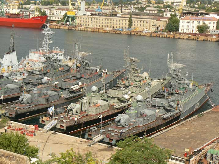Russian navy Grisha class Anti Submarine Corvette's in Sevastopol
