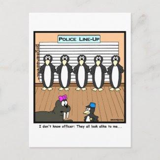Line-up Postcard