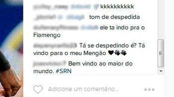 Marinho; Instagram; Vitória; comentários (Foto: Reprodução)