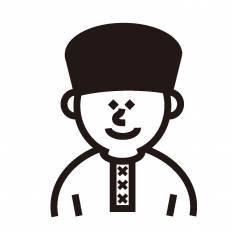 ロシア人シルエット イラストの無料ダウンロードサイトシルエットac